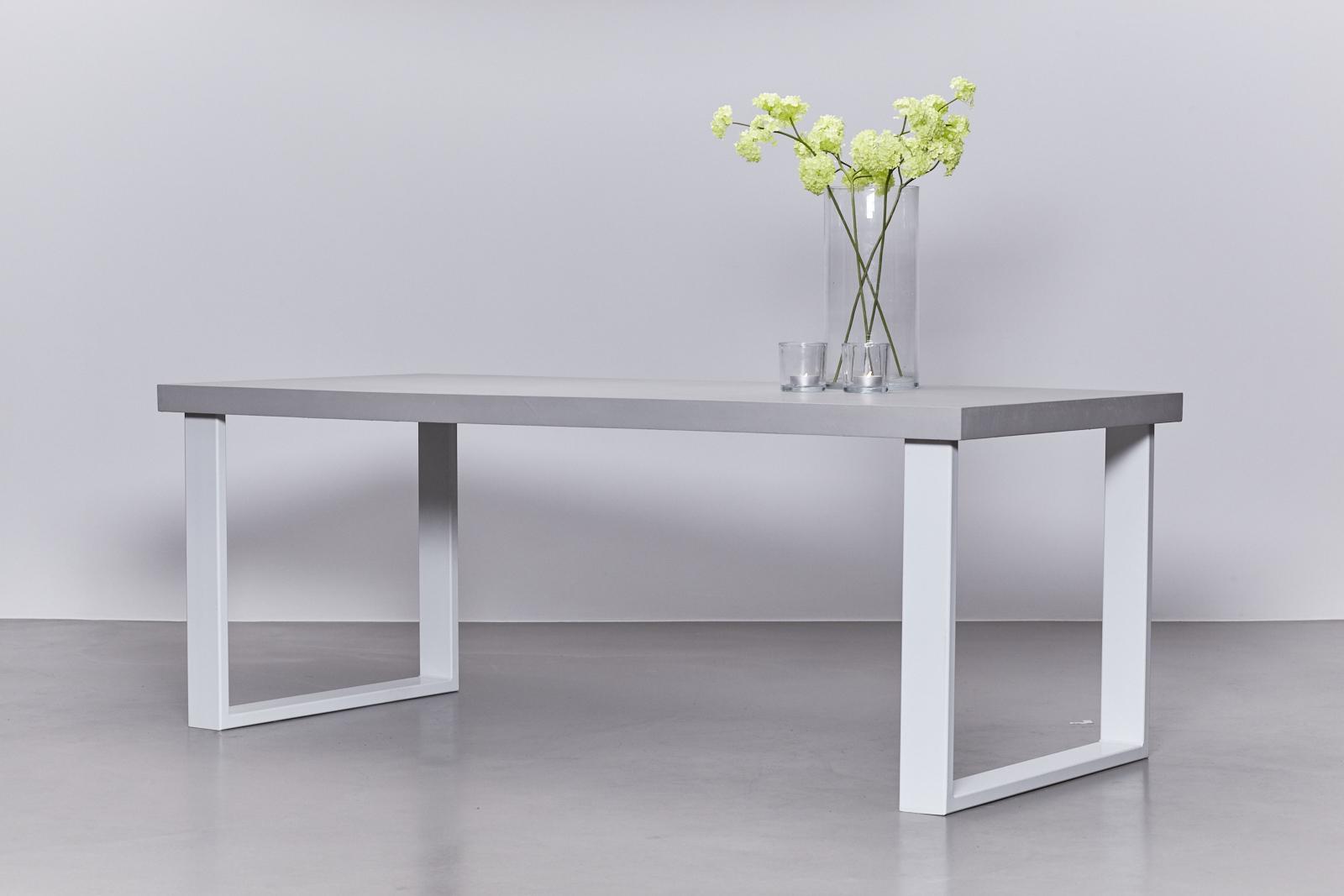 betonlook tafel onderstel staal wit de betonfabriek