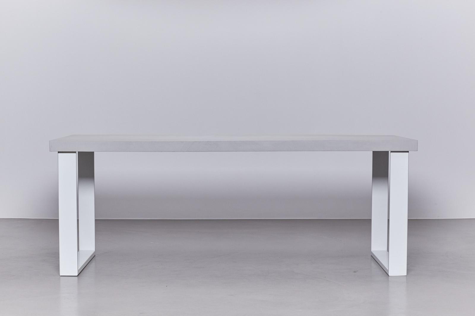betonlook tafel onderstel staal wit de betonfabriek. Black Bedroom Furniture Sets. Home Design Ideas